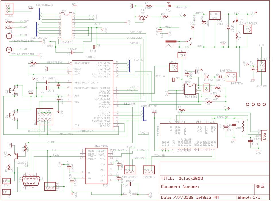 AVR Scope Clock Schematics