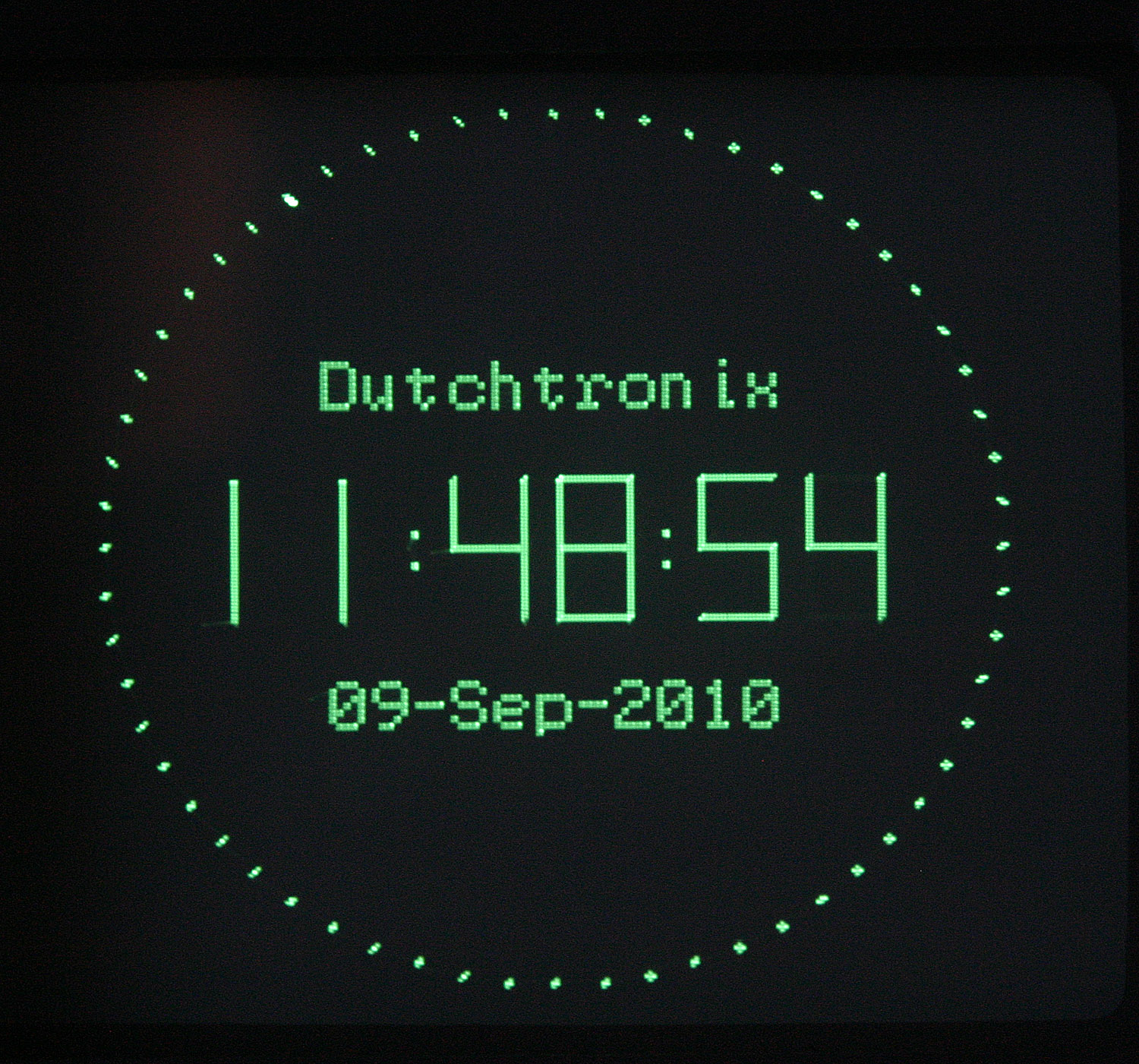 Digital Clock Face Digital display